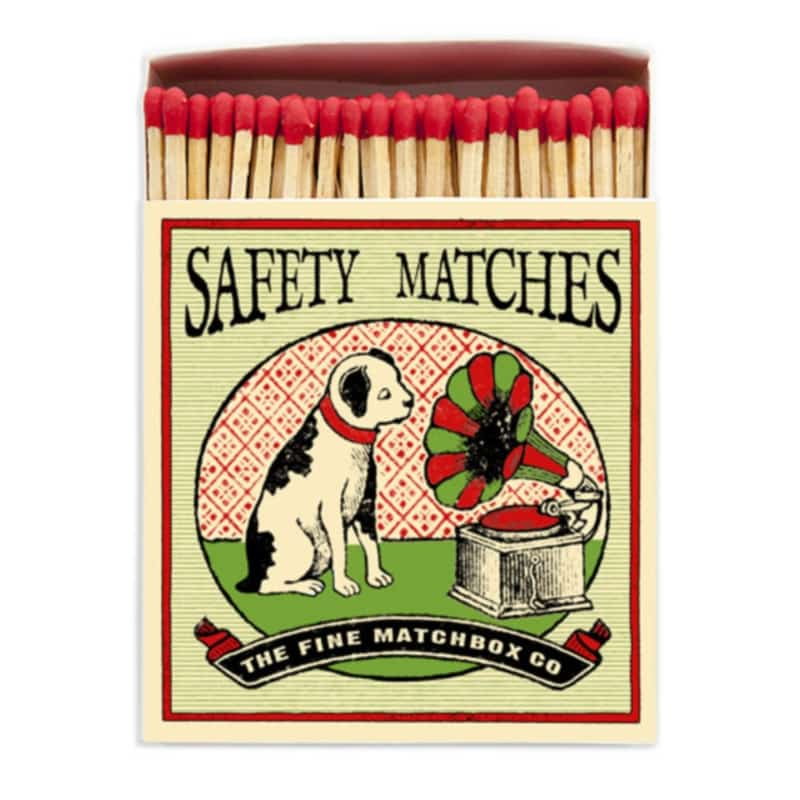 LUXURY MATCHBOXES sirky Dog and Gramaphone