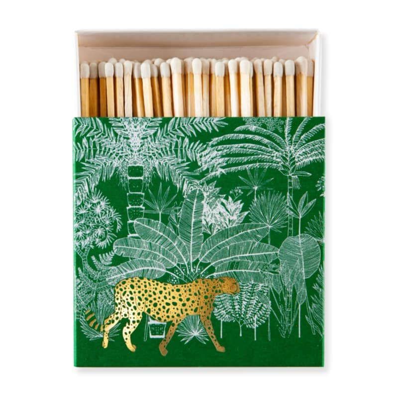 LUXURY MATCHBOXES sirky Cheetah in Jungle Green
