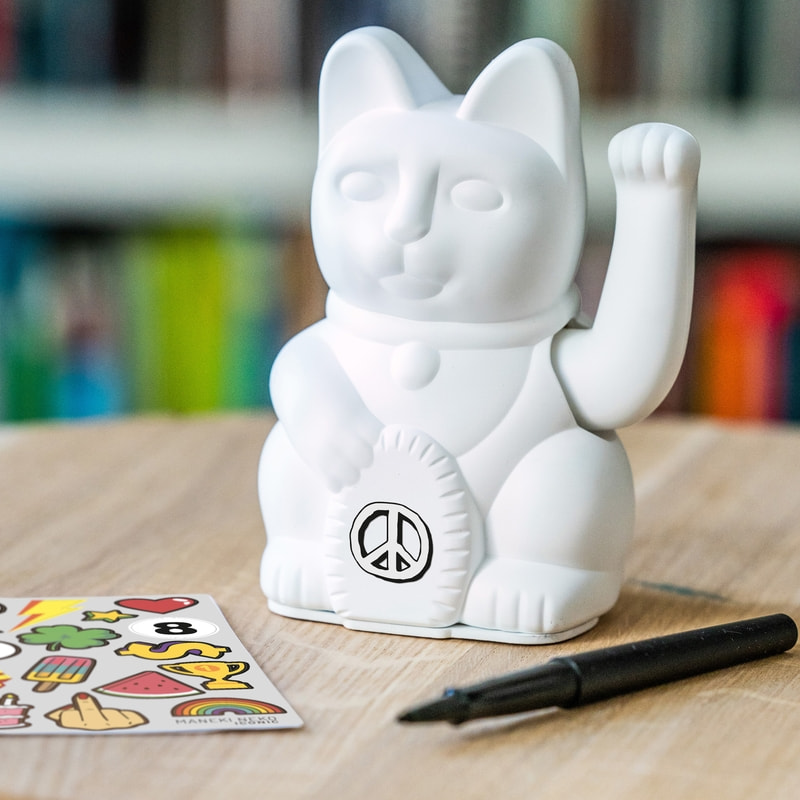 MANEKI NEKO Lucky Cat DIY STICKER-SET