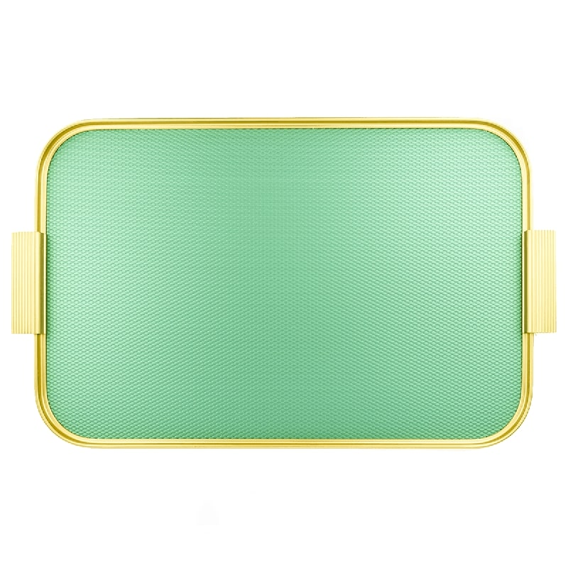 RIBBED TRAY podnos 51x33 / Diamond Emerald Green